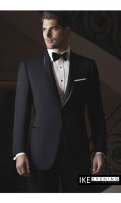 Waverly Black Tuxedo Jacket Ike Evening by Ike Behar Tuxedo Authentic Brand