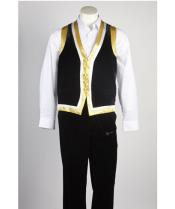 Matching Vest & Pants Set Black