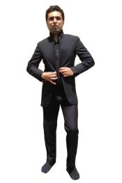 Mandarin Nehru Tuxedo Dinner Jacket Wedding Prom Coat Blazer (No Pants) - Mens Preaching Jacket