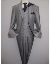 And White Checkered Suit - Gray Checkered Texture VITALI Mens Two