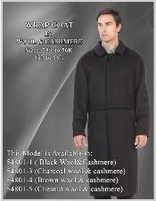 Belted Overcoat Full Length Wool Fabric Long Topcoat By Alberto Nardoni