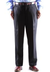 Size & Big and Tall Dress Pants 100% Wool Pleated Pants