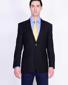 Mens Mantoni Wool Blazer Black - High End Suits - High Quality