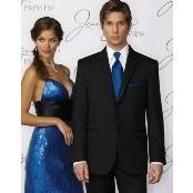 Skinny Fitted Slim Fit Savoy Tuxedo – Satin Trim Lapel