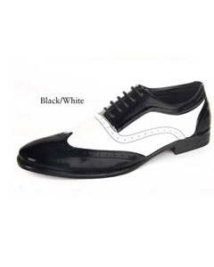 SKU#SD20 Mens dress shoes Black and white
