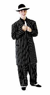 ZT139 Mens Black or Brown tone on tone Stripe Fashion Dress Zoot Suit $149