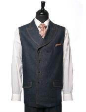 Mens IL Canto Denim Trending 2 Piece Vest Dress Casual Baggy -