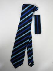 Tie Set Black W/ Navy Blue