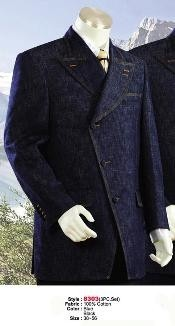 Mens Double Breasted Suits Style comes in Blue or Black