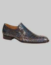 Mezlan Custom Loafers Blue Two Tone Crocodile Exotic Conner Shoes Authentic Mezlan Brand