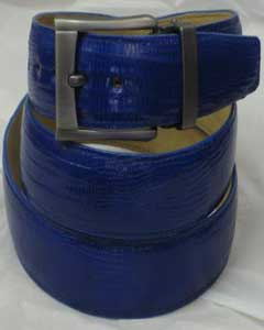 Genuine Authentic Royal Blue Lizard Belt