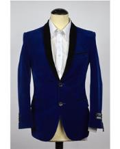 Velvet Mens blazer Royal