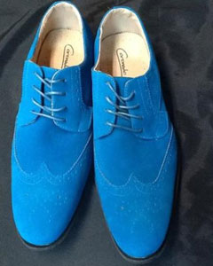 dress wingtip suede velvet