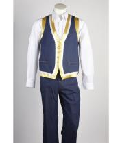 Matching Vest & Pants Set  Blue