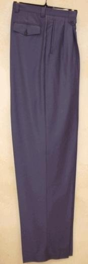 Long Rise Big Leg Slacks Indigo ~ Bright Blue Teal Cobalt Wide