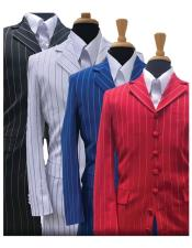 Gangster Stripe ~ Pinstripe Fashion Zoot Suit Available in 6 Colors