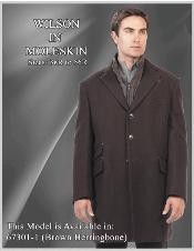 Car coat Brown Herringbone