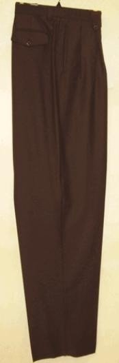 rise big leg slacks  Brown Wide Leg Dress Pants Pleated