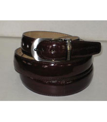 Genuine Authentic Brown Eel Belt