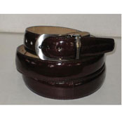 Authentic Brown Eel Belt