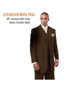 4 Button Style three piece low priced fashion Outfits Suits Luxurious Wool Feel Suit with Double Breasted