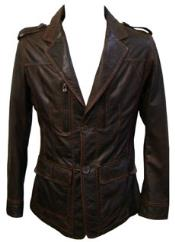 Brown Lamb Leather Sporting
