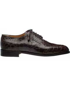 Ferrini Mens Leather Sole And Heel Italian Lace Up Chocolate World Best