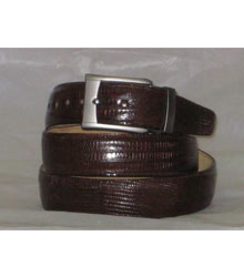 Authentic Brown Lizard Belt