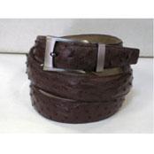 Genuine Authentic Brown Ostrich Belt