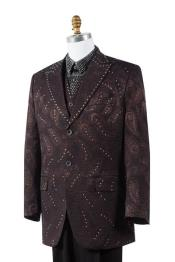 Paisley 3 Piece Fashion Mens Suit Blazer Looking