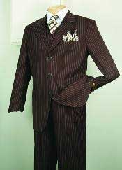 Chalk Bold Gangster Mens 1920s 30s Fashion Look Available in 2 or Three ~ 3 Buttons Style