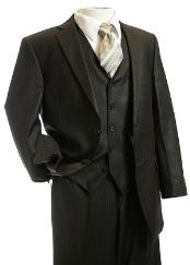 Suit Brown Pinstripe Suit