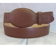 Authentic Brown Elk Western Cowboy Belt