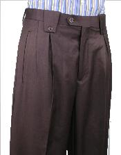 Valenti Wide Leg Pant Brown