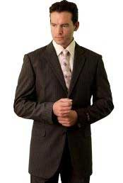 Poly/Rayon Mens Classic affordable suit online sale Brown