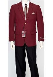 Pacelli Mens Classic Burgundy ~ Wine ~ Maroon Color Blazer Jacket Blair