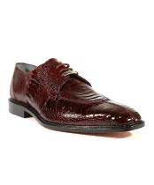 Siena Burgundy ~ Wine ~ Maroon Color Oxfords Belvedere Shoes