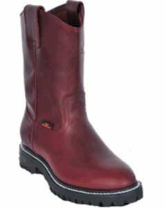 Grasso Nappa Los Altos Mens Work Boot ~Full Lug Sole Burgundy
