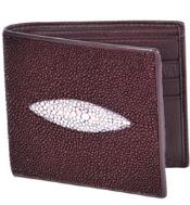 Genuine Exotic Animal Skin Wild West Boots Wallet- Burgundy ~ Maroon