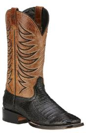 Ariat Handcrafted Fire Catcher Genuine Caiman Belly Black Boots