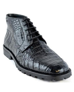 para Hombre Caiman Panza Suela Tractor Negro Ankle Dress Style For