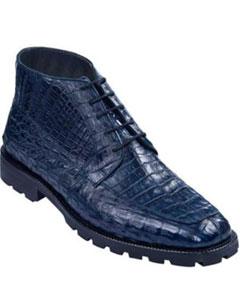 para Hombre Caiman Panza Suela Tractor Negro Rojizo Ankle Dress Style