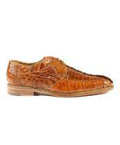 Mens Authentic Genuine Skin Italian Shoes Colombo Camel Oxfords