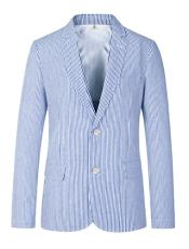 Cheap Priced Blazer Jacket For Men Online Two Button Carolina Blue Medium
