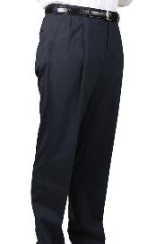Charcoal Blue Parker Pleated Pants Lined Trousers unhemmed unfinished bottom