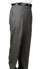 Charcoal Parker Pleated Pants Lined Trousers unhemmed unfinished bottom