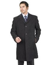 Dress Coat Long Jacket With 2 Side Pocket PolyRayon Blend Unfinished