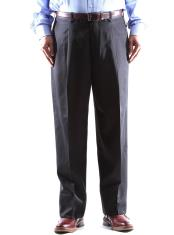 Size & Big and Tall 100% Wool Dress Pants Pleated Pants