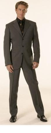 Gianni Charcoal Gray Super 120s Wool Available in 2 or 3 Buttons