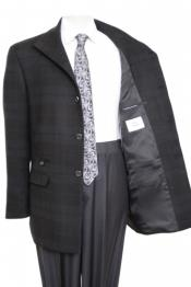 Gray checker Full Length Wool And Cashmere Coat